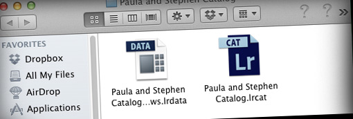 Lightroom catalog folder