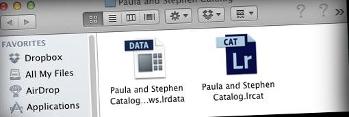 Lightroom catalog folder