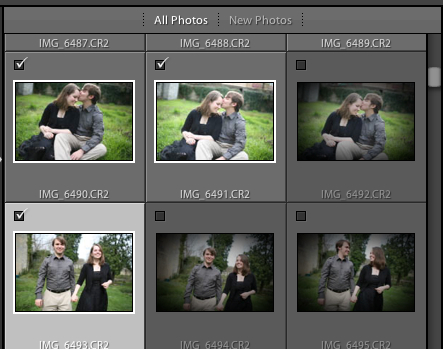 You can use the checkboxes next to image previews to choose what Lightroom imports.