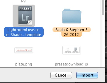 Choose Preset