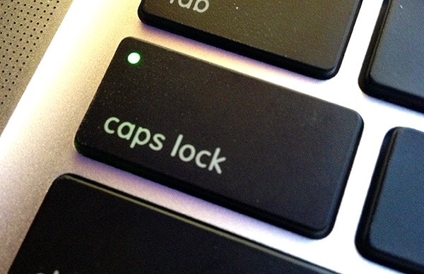 Caps lock: not just for angry Facebook rants anymore.