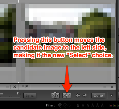 "Clicking the button illustrated above names a new ""select"" image for the left side of the image workspace."