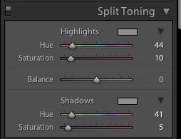 Split Toning Warm