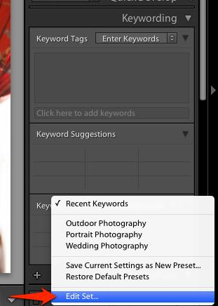 Choose edit set on the menu that pops up.